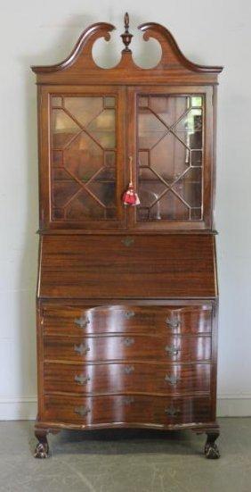 Mahogany Secretary Bookcase.