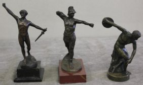 Lot Of 3 Bronzes Including Discus Thrower