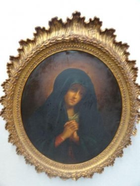 "19th C O/C ""Madonna In Sorrow"" After Giovanni"
