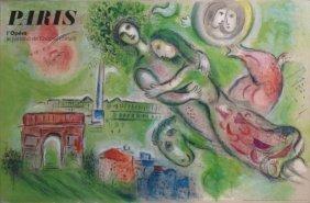 "CHAGALL, Marc. Lithograph Poster ""Paris L'Opera."""