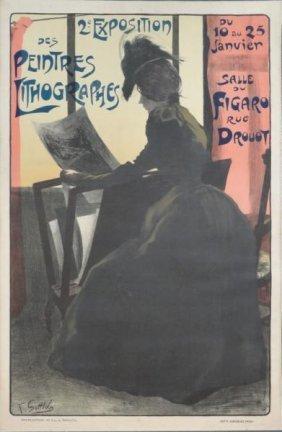 """GOTTLOB, Fernand. Lithograph Poster """"2e Exposition"""