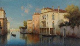 ALDINE II, Marc - Attributed. O/C Venetian Scene.