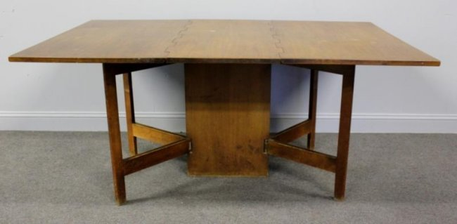 Midcentury George Nelson Gate Leg Dining Table Lot 387