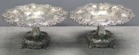 STERLING. Pair of Tiffany & Co. Tazzas or Center