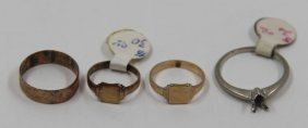 Jewelry. Grouping Of Childrens' Rings And A