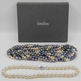 Jewelry. Pearl Necklace Grouping.