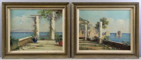 Canino, Vincenzo. Pair Of Italian Coastal Scene