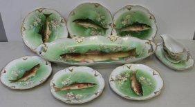 Limoges Porcelain Fish Set.