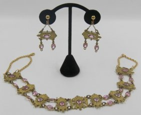 Jewelry. Art Nouveau Jewelry Grouping.