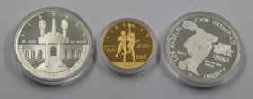 1984 Olympic Coin 3 Coin Set Gold & Silver, 3 Sets