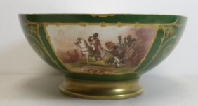 Limoges Gilt And Paint Decorated Pedestal Bowl.