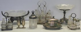 Silver-plated. Large Grouping Of Silverplate Items