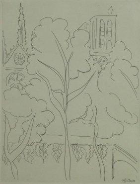 "Matisse, Henri. Etching ""la Cite, Notre Dame"""