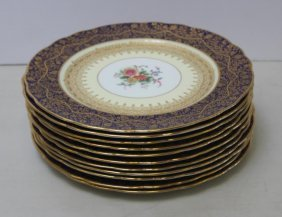 A Set Of 12 George Jones & Sons Service Plates.