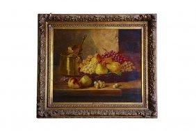 19th C. Brunel De Neuville Still Life Painting
