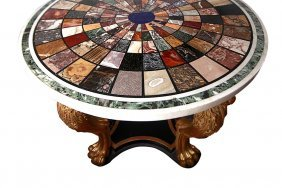 19th C. Italian Pietra Dura Table