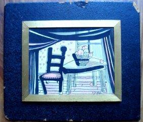 Mid 20th Century Watercolor Still-life Signed C. Joseph