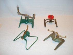 Four Vintage Sprinklers Including 1) A Lafayette Brass