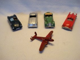 Tootsie Toys Lot Including Mercedes, Porsche, Mg, Etc