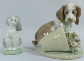 2pc LLADRO 'IT WASN'T ME' 'FRIEND FOR LIFE' w BOX