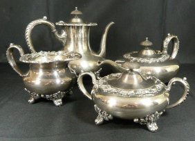 "Vintage International Silver ""wilcox"" Tea Set"