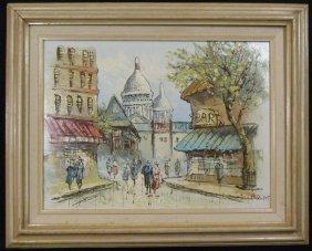 Caroline Burnett Street Scene Oil Painting