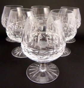 726 4 courvoisier cognac glasses and cut glass ashtray lot 726 - Waterford cognac glasses ...