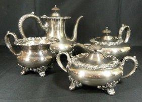 "Vintage International Silver ""wilcox"" Tea Set"