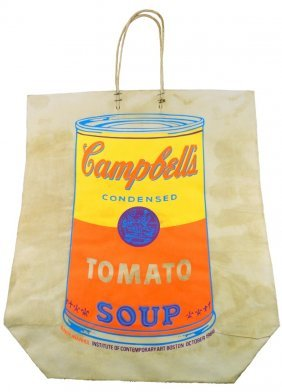 Andy Warhol Campells Soup Screenprint On Bag