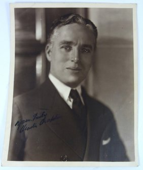Charlie Chaplin Signed Autographed Photo
