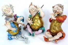 "Three Capodimonte ""cellini"" Porcelain Figurines"
