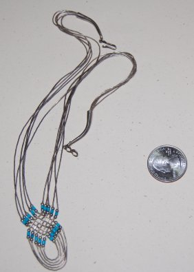 Navajo Liquid Silver Dream Catcher Necklace