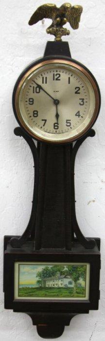 New Haven Willis Banjo Clock (12 Day) Circa 1929