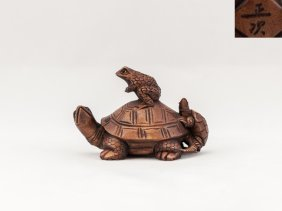 Antique Carved Box Wood Netsuke