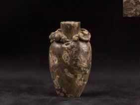 Fossil Agate Snuff Bottle