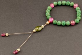 18th Chinese Antique Jade Prayer Beads