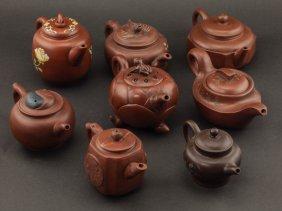 Group Of Chinese Yixing Zisha/purple Clay Teapot