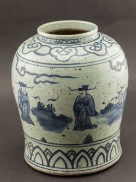 Chinese Antique Ming Dynasty Blue And White Porcelain