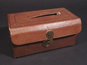 Victorian Leather Travelling Vanity Case, The Velv
