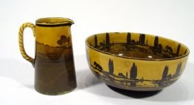 Royal Doulton Treacle Glazed Seriesware Bowl And A