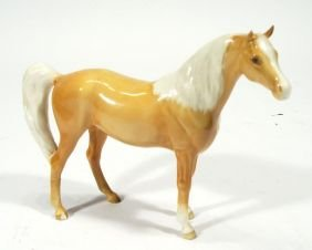 Hand Painted Beswick Tan Horse, Factory Marks To U