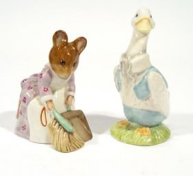 Two Hand Painted Beswick Beatrix Potter Figures -