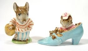Two Hand Painted Beswick Beatrix Potter Figures, M