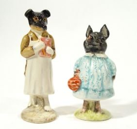 Two Hand Painted Beswick Beatrix Potter Figures, P