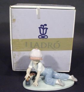 Hand Painted Lladro 'All Aboard' Figure 7619, Coll