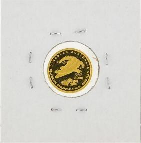 2006 $15 Australia Crocodile 1/10 Oz Gold Coin