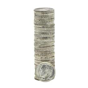 Roll Of (50) 1964-P Brilliant Uncirculated Roosevelt