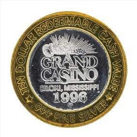 .999 Silver Grand Casino Biloxi Mississippi $10 Casino