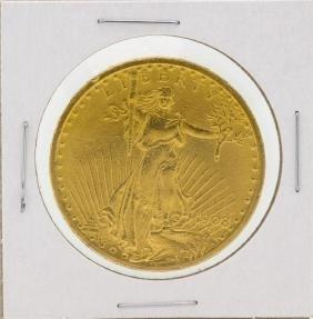 1908 $20 Saint Gaudens Double Eagle Gold Coin
