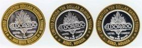 Lot Of (3) Eldorado Reno $10 Casino Gaming Token .999